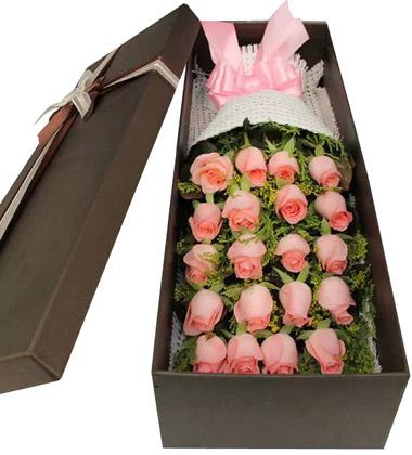 上海-19枝粉玫瑰花...