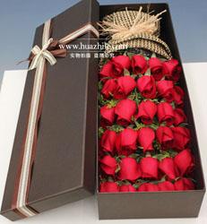 上海-33枝红玫瑰花...