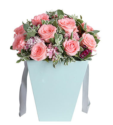 上海-11枝粉玫瑰花...