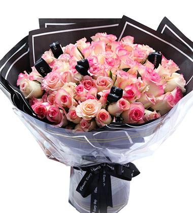 上海-红唇99朵玫瑰