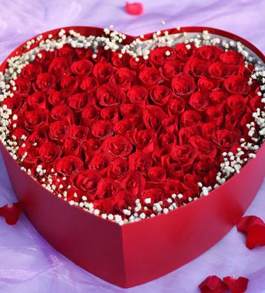 天津-99红玫瑰-花...