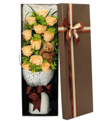 上海-11枝香槟玫瑰...