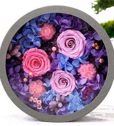 上海-永生花盒--紫...