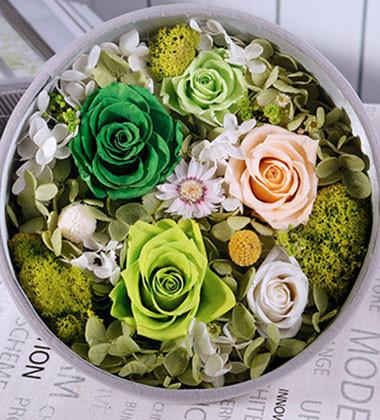 上海-永生花盒-甜蜜